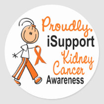 KIDNEY CANCER iSupport 1 SFT Classic Round Sticker