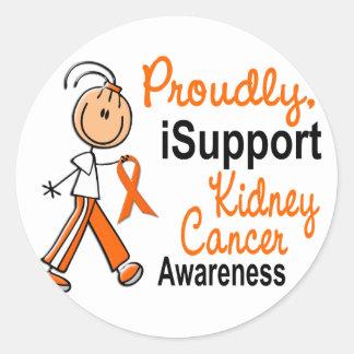 KIDNEY CANCER iSupport 1 SFT Classic Round Sticker