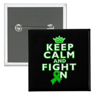 Kidney Cancer Keep Calm Fight On 2 Inch Square Button