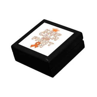 Kidney Cancer Keep Calm Fight On Jewelry Box