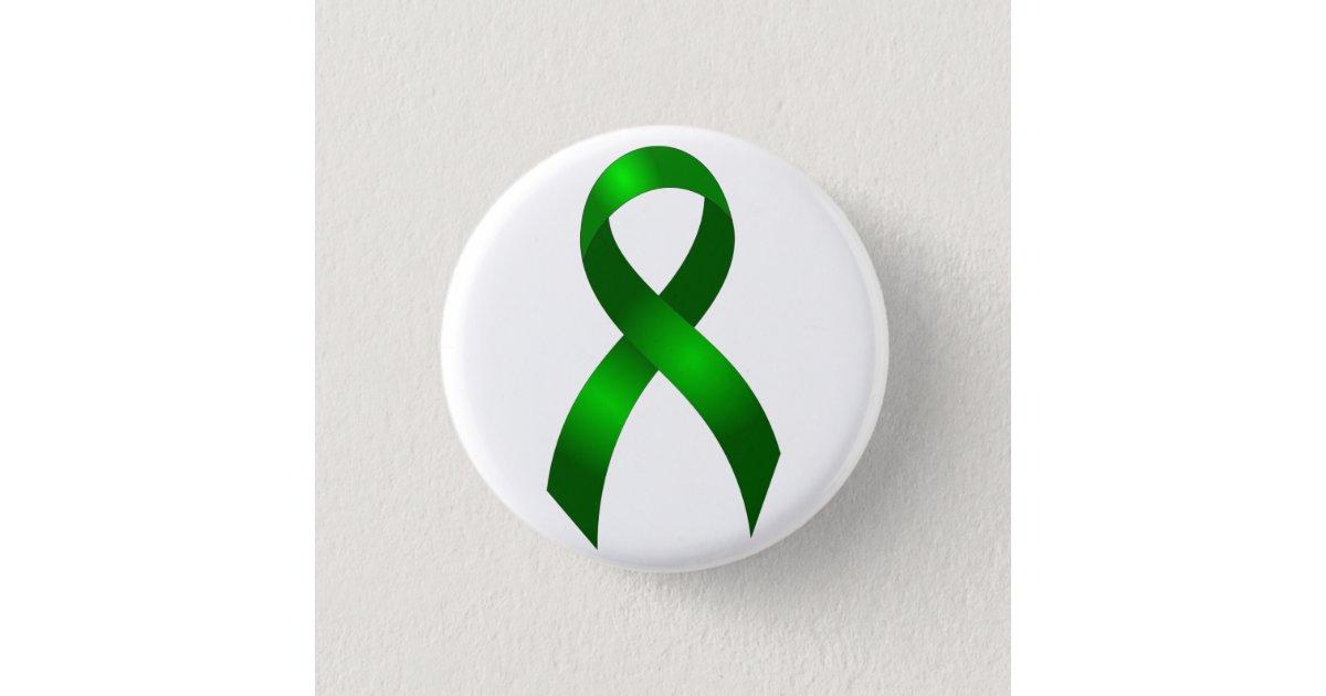 Kidney Cancer Liver Cancer Green Ribbon Button Zazzle Com