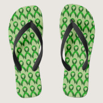 Kidney Cancer | Liver Cancer | Green Ribbon Flip Flops