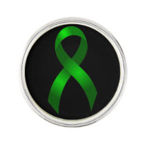 Kidney Cancer | Liver Cancer | Green Ribbon Pin