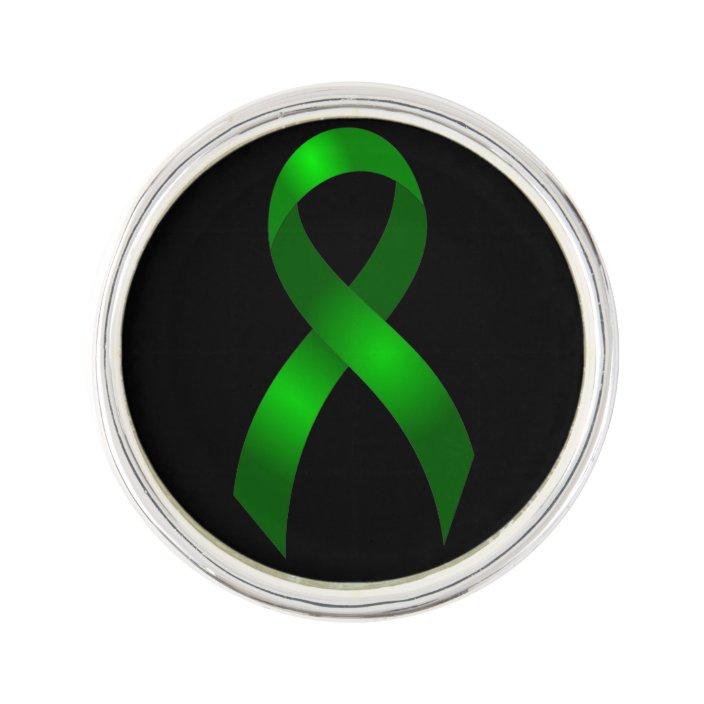 Kidney Cancer Liver Cancer Green Ribbon Pin Zazzle Com