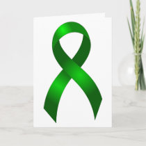 Kidney Cancer | Liver Cancer | Green Ribbon Thank You Card