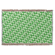 Kidney Cancer | Liver Cancer | Green Ribbon Throw Blanket
