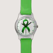 Kidney Cancer | Liver Cancer | Green Ribbon Wristwatch