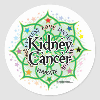 Kidney Cancer Lotus Classic Round Sticker