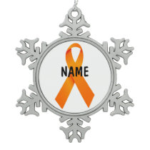 Kidney Cancer Memorial Ribbon Ornament