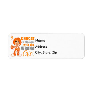 Kidney Cancer Messed With Wrong Girl.png Return Address Label