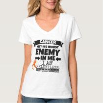 Kidney Cancer Met Its Worst Enemy in Me (Orange) T-Shirt