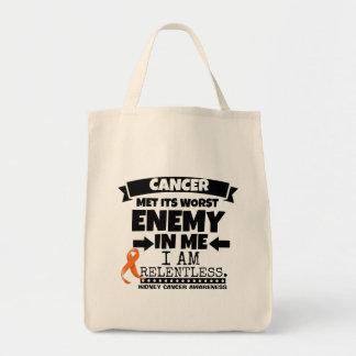 Kidney Cancer Met Its Worst Enemy in Me (Orange) Tote Bag