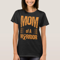 Kidney Cancer Mom Of Warrior Autism Awareness T-Shirt