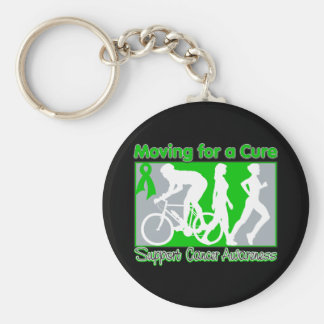 Kidney Cancer Moving For A Cure Basic Round Button Keychain