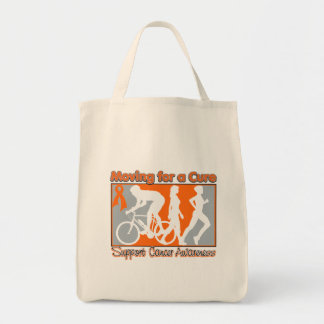 Kidney Cancer Moving For A Cure v2 Grocery Tote Bag