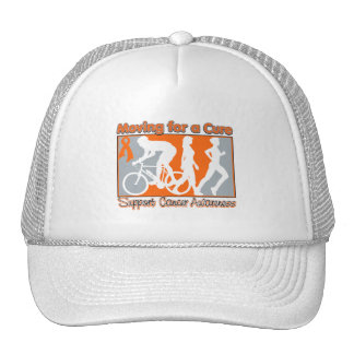 Kidney Cancer Moving For A Cure v2 Trucker Hat