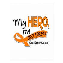 Kidney Cancer MY HERO MY BEST FRIEND 42 Postcard