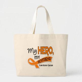 Kidney Cancer MY HERO MY BOYFRIEND 42 Large Tote Bag