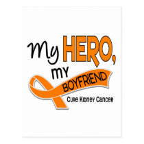 Kidney Cancer MY HERO MY BOYFRIEND 42 Postcard