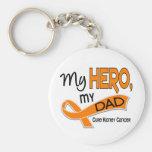 Kidney Cancer MY HERO MY DAD 42 Basic Round Button Keychain