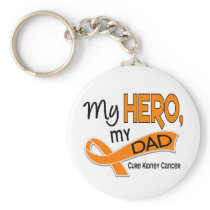 Kidney Cancer MY HERO MY DAD 42 Keychain