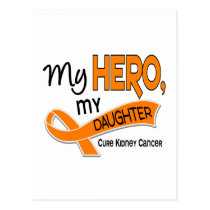 Kidney Cancer MY HERO MY DAUGHTER 42 Postcard