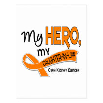 Kidney Cancer MY HERO MY DAUGHTER-IN-LAW 42 Postcard