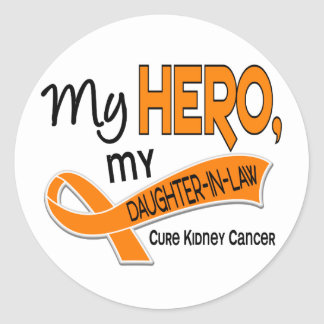 Kidney Cancer MY HERO MY DAUGHTER-IN-LAW 42 Classic Round Sticker