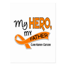 Kidney Cancer MY HERO MY FATHER 42 Postcard