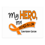 Kidney Cancer MY HERO MY FATHER-IN-LAW 42 Postcard