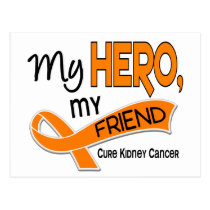 Kidney Cancer MY HERO MY FRIEND 42 Postcard