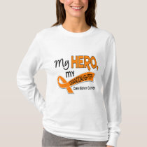Kidney Cancer MY HERO MY GRANDDAUGHTER 42 T-Shirt