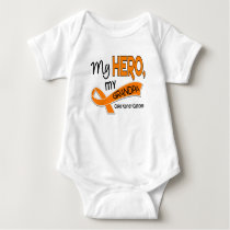 Kidney Cancer MY HERO MY GRANDPA 42 Baby Bodysuit