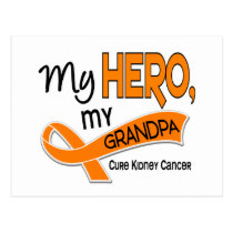 Kidney Cancer MY HERO MY GRANDPA 42 Postcard