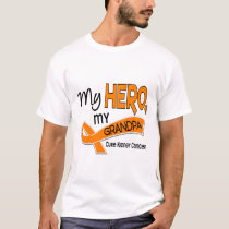 Kidney Cancer MY HERO MY GRANDPA 42 T-Shirt