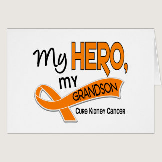 Kidney Cancer MY HERO MY GRANDSON 42 Card