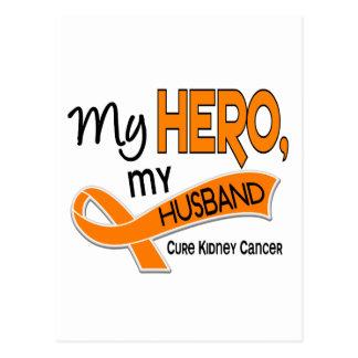 Kidney Cancer MY HERO MY HUSBAND 42 Postcard