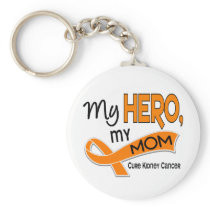 Kidney Cancer MY HERO MY MOM 42 Keychain
