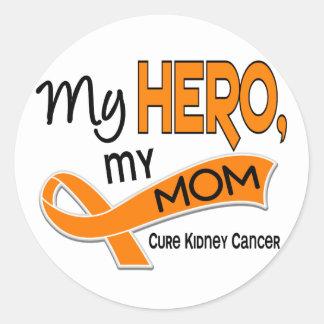 Kidney Cancer MY HERO MY MOM 42 Round Stickers
