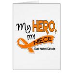 Kidney Cancer MY HERO MY NIECE 42 Greeting Cards