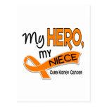 Kidney Cancer MY HERO MY NIECE 42 Postcard