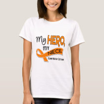 Kidney Cancer MY HERO MY NIECE 42 T-Shirt