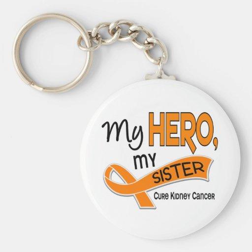 Kidney Cancer MY HERO MY SISTER 42 Basic Round Button Keychain