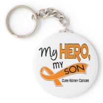Kidney Cancer MY HERO MY SON 42 Keychain