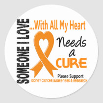 Kidney Cancer Needs A Cure 3 Classic Round Sticker