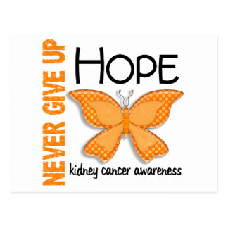 Kidney Cancer Never Give Up Hope Butterfly 4.1 Postcard