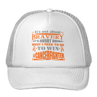 Kidney Cancer Not About Bravery Trucker Hat