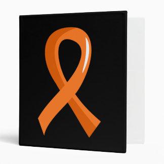 Kidney Cancer Orange Ribbon 3 Binder