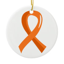Kidney Cancer Orange Ribbon 3 Ceramic Ornament