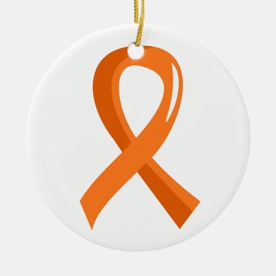 Kidney Cancer Orange Ribbon 3 Ceramic Ornament